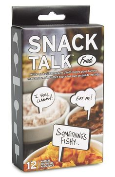 'snack talk' food markers
