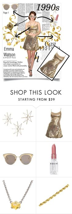 """""""1990s-Collab with @theizzybee-1"""" by kitty-cat130 ❤ liked on Polyvore featuring Uttermost, Whiteley, Emma Watson, LMNT, Rodin, Judith Ripka and Yves Saint Laurent"""