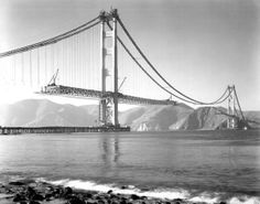 Golden Gate Bridge construction. 1937.