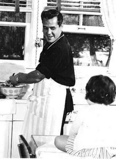 Desi Arnaz - nothing sexier than a handsome man who knows how to cook.