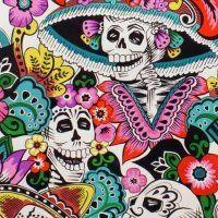Dia de la Catrina - White - Dia de los Muertos - Fabric - Shop at www.valliandkim.com