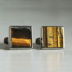Exclusive Brown Natural Stone Titanium Cufflinks  Ultimate Classic natural stone along with aircraft grade titanium.  http://cuffboutique.com.au