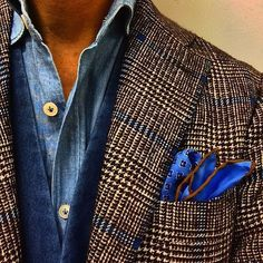 Love that pocket square. Trendy Mens Fashion, Mens Fashion Suits, Stylish Men, Men Casual, New Outfits, Cool Outfits, Casual Outfits, Costume Prince, Gents Shirts