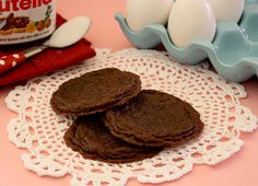 3 Ingredient Nutella Cookies (Sugarcrafter). Gotta try this one.