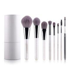 Mooxury Professional Makeup Brushes Cosmetic Brush Set Synthetic Kabuki Eye Face Lip Powder Foundation Make Up Brushes with White Holder - 8 Pcs #affiliate
