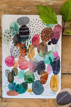 S harmony laura horn art acryl abstrakt, abstrakte kunst, skizz Art Et Nature, Nature Drawing, Nature Crafts, Kunstjournal Inspiration, Art Journal Inspiration, Abstract Watercolor Art, Watercolor Paintings, Abstract Paintings, Oil Paintings