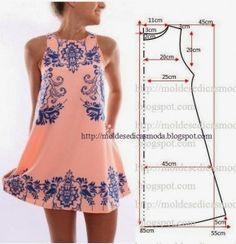 Molde de vestido casual