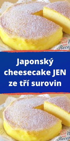 Japonský cheesecake JEN ze tří surovin Cheesecakes, Cantaloupe, Hamburger, Food And Drink, Sweets, Bread, Fruit, Asia, Chef Recipes