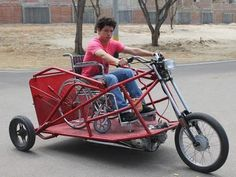 Motorcycle Wheelchair>>> See it. Believe it. Do it. Watch thousands of spinal cord injury videos at SPINALpedia.com