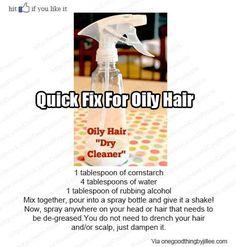No more oily hair!