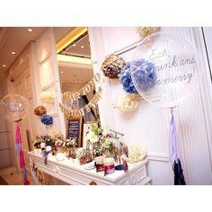 【結婚式レポ】DIYがニガテなご新婦さまのアイデア満載!ネイビー×ゴールドがテーマの素敵な結婚式