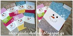 Ιδέες για δασκάλους:Κάρτες χιονανθρωπάκια!