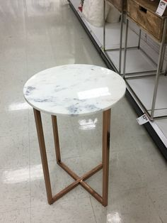 ❤️From Target. Marble top with rose gold legs side table. Love this!