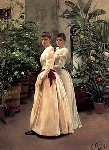 """""""Retrato de las señoritas N.N."""" (1890). Ramón Casas (1866-1932)."""