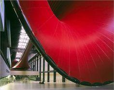 marsyas - tate modern, london - anish kapoor + cecil balmond - 2002 Tate Modern London, Turbine Hall, Anish Kapoor, Old Master, Sculpture Art, Modern Art, Stairs, Museum, Studio