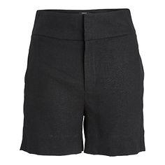 Shorts i linblanding Svart