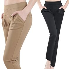 traje sastre de paño fino para dama - Buscar con Google Trousers Women, Pants For Women, Clothes For Women, Fashion Pants, Fashion Outfits, Womens Fashion, Jumpsuit Casual, Minimal Wardrobe, Classy Girl