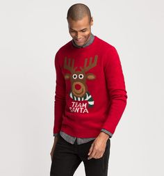 Ugly sweater Team Santa Rudolph