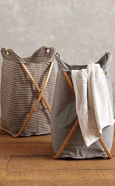 Tall Cross-Fold Laundry Basket #anthrofave