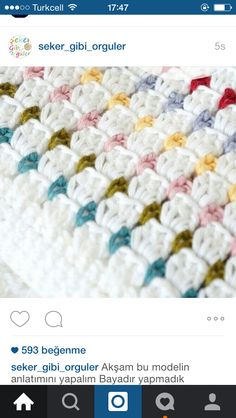 Ravelry: Annie baby Blanket pattern by Little Doolally use black or blue instead of white, rainbow pops of color.Crochet your own Annie Baby Blanket!Easy to make with full instructions (in both UK and US terms). Includes lots ofI'd like to make this Crochet Afghans, Crochet Blanket Patterns, Baby Blanket Crochet, Crochet Stitches, Knitting Patterns, Crochet Blankets, Baby Afghans, Newborn Crochet, Baby Afghan Patterns