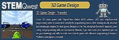 3D Game Design: Games made during the course include: Maze Shifter, Tumble Blocks, Jaywalking, Pac-Man clone, Q*bert clone, Breakout, Martian Invaders, Tank attack, and first-person view! On average, students will complete 4-5 hours of work per week during the 9-week course. No limit to the number of games created! #gamedesign #gaming  #homeschool #education #3D   #technology #math #online #stem #steam #elearning #codingforkids #onlineeducation #afterschool #unschooling #homeed… 3d Video Games, Stem Steam, Coding For Kids, Math Help, Pac Man, 5 Hours, After School, Math Games, Game Design