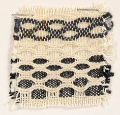 Cotton and Gimpe, plain weave, honeycomb The Josef Anni Albers Foundation Weaving Textiles, Weaving Art, Tapestry Weaving, Loom Weaving, Hand Weaving, Anni Albers, Crochet Wool, Weaving Projects, Wool Carpet