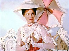 Julie Andrews as Mary Poppins in the 1964 Disney film