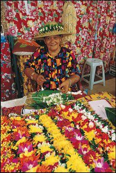 Flowers market in Papeete, Tahiti, French Polynesia ✯ ωнιмѕу ѕαη∂у