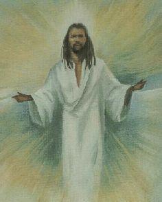 African American Jesus On The Cross