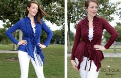 Ruffle Front Cardigan! Small-3XL! 48% off at Groopdealz