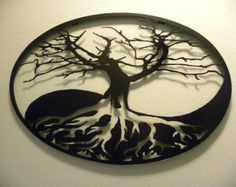 Tree Of Life Metal Sign by rebelworksmfg on Etsy