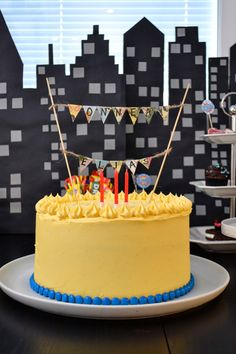 Birthday Cake, Superhero, Desserts, Food, Tailgate Desserts, Deserts, Birthday Cakes, Essen, Postres