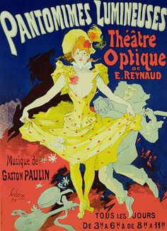 Reproduction Of A Poster Advertising 'pantomimes Lumineuses' At The Musee Grevin by Jules Cheret