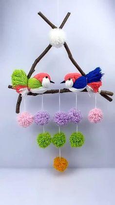 Diy Crafts For Home Decor, Diy Crafts Hacks, Diy Arts And Crafts, Creative Crafts, Wall Decor Crafts, Homemade Wall Decorations, Handmade Home Decor, Handmade Crafts, Easter Crafts