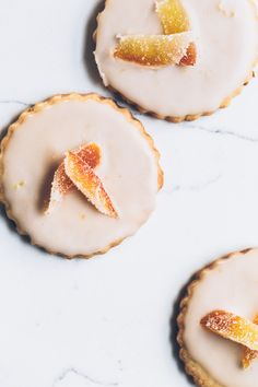 grapefruit fennel shortbread cookies