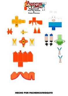 Papercraft Cubeecraft Adventure Time Hora De Aventura Finn Jake