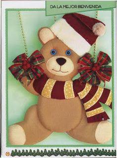 Christmas Stockings, Teddy Bear, Toys, Holiday Decor, Animals, Creando Ideas, Home Decor, Halloween, Doll Crafts