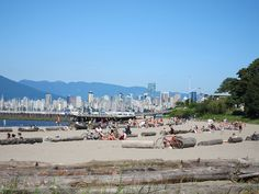 Jericho Beach, Vancouver, my hometown. This is a great beach for windsurfing