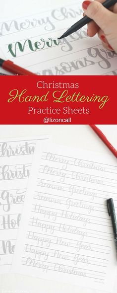 Get ready to letter all the holiday cards this year with these Christmas hand lettering practice sheets. Get ready to letter all the holiday cards this year with these Christmas hand lettering practice sheets. Creative Lettering, Brush Lettering, Lettering Design, Lettering Ideas, Lettering Styles, Lettering Practice Sheets, Calligraphy Practice, Calligraphy Letters, Modern Calligraphy