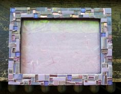 Orchid Violet Mosaic Picture Frame by nutmegdesigns on Etsy