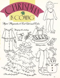 Mostly Paper Dolls: CHRISTMAS Is Coming Paper Dolls