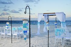 AQUA Beach Wedding Ceremony set up in the Dominican Republic.