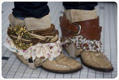 Style up old boots with belts and scarves! I adore this!!