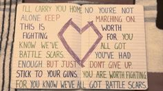 Paradise Fears - 'Battle Scars' Lyrics  This is the best lyrics video I've ever seen, and I think we all need to hear what this song has to say. <3