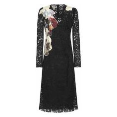 Valentino Lace Silk-Blend Dress ($3,990) ❤ liked on Polyvore featuring dresses, valentino dress, lace dresses, lace cocktail dress and lacy dress