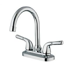 Bathroom Sink Faucets - Widespread Sink Faucet - Solid Brass Contemporary Chrome Finish Bathroom Sink Faucet
