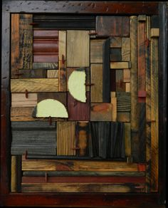 Gallery - heather patterson / mema-studio Scrap Wood Projects, Arts And Crafts Projects, Wood Wall Decor, Wood Wall Art, Wood Sculpture, Wall Sculptures, Industrial Wall Art, Shadow Box Art, Wood Mosaic