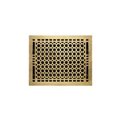 "Honeycomb Brass Wall Register - Polished Brass 8""x14"" (9-1/4""x15-1/8"" Overall)"
