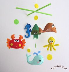 Baby Crib Mobile Baby Mobile Felt Mobile by lovelyfriend, via Etsy.