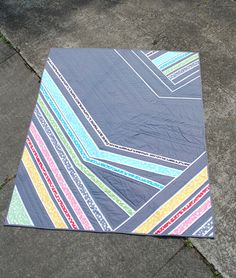 """This """"Light Cycles"""" quilt by Violet Craft is wonderfully different!"""